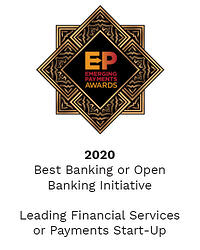 Emerging Payments Awards 2020 - Best Banking or Open Banking Initiative & Leading Financial Services or Payments Start-Up