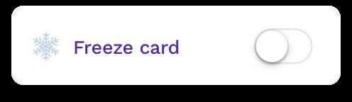 freeze card